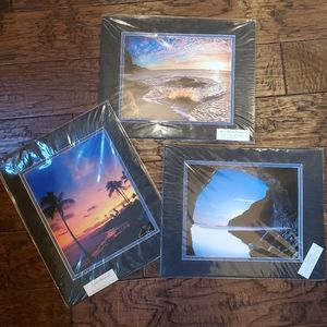 Set of 3 Hawaiian matted and signed photographs
